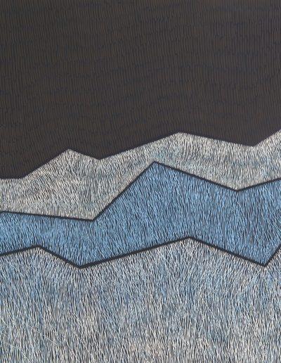 Janine Partington, Range - £950, 64x66cm, 66x68cm framed, 2cm wood frame